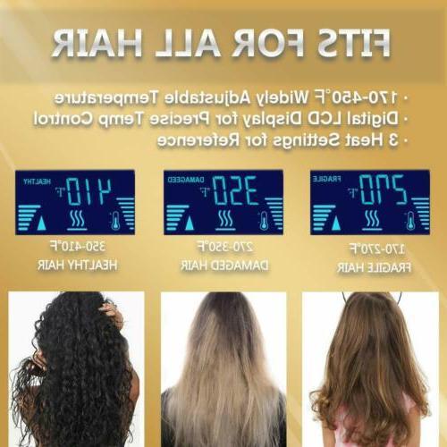 KIPOZI Hair Curler Pro Iron Dual Voltage