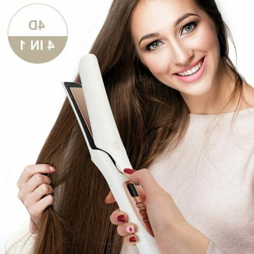 Pro. Hair Straightener 4D Vapor Ceramic Flat Iron Curly Stra