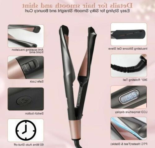 2 in Hair Flat Iron Oil Salon Clip