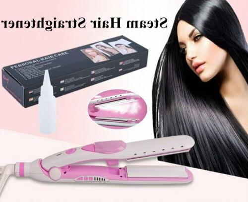 2 1 Steam Hair Straightener Straightening Ceramic Iron BT