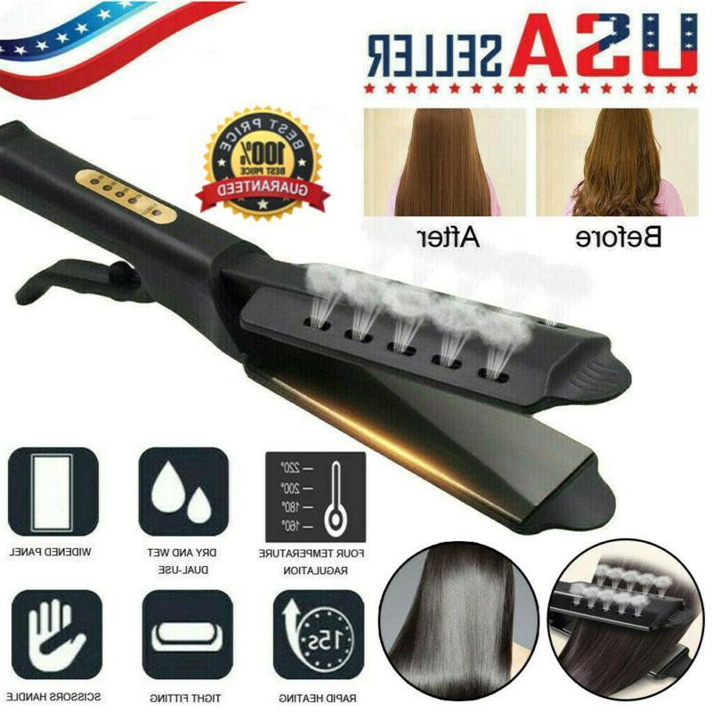 4 gear steam hair straightener ceramic tourmaline