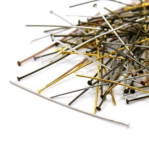 "5000pcs/1000g 2"" Assorted Iron Flat Head Pins Drilled Findin"