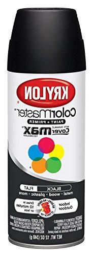 Krylon K05160202 K05160207 Colormaster Paint & Primer, Black