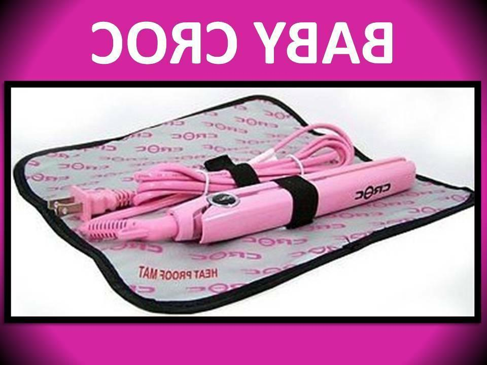 BABY CROC TURBOION PINK 430° TRAVEL FLAT IRON HAIR STRAIGHT