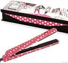 "Brilliance new york   FLAT IRON-Pink Polka Dot  1.25 "" ceram"