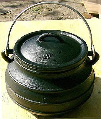 Cast iron Flat Bottom 2QT Bean Pot Kettle Survival Cookware