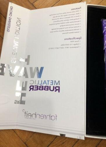 Fahrenheit Wave Purple Flat Straightening Hair Iron 1-1/4""