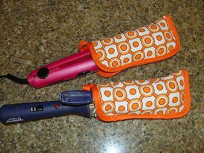 Flat Iron / Curling Iron Fabric Case/ Cover Travel Size 2 pi