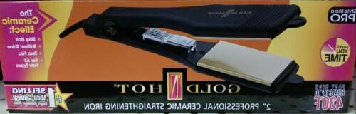 "Gold 'N Hot Professional 2"" Ceramic Straight Flat Iron GH214"