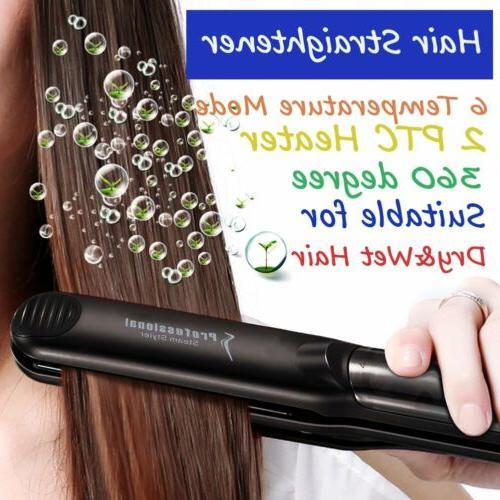 Hair Salon Steam Flat Iron Hair Straightener Straightening S
