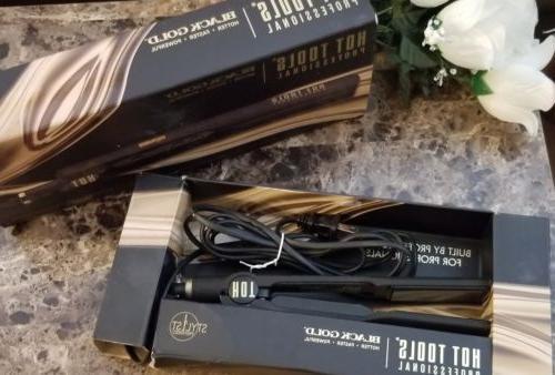 "Hot Tools Professional Black Gold 1-1/4"" Digital Salon Fla"