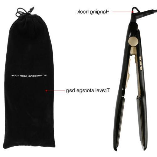 KIPOZI Salon Flat Iron Hair Straightener Titanium Digital