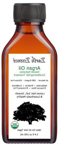 Organic Argan Oil Hair Treatment 3.4 Fl Oz - All Natural For