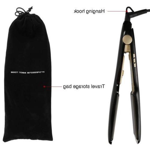 Salon Flat Iron Hair Straightener LCD Instant KIPOZI