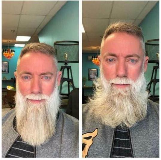 Beard Straightener Multifunctional Flat Iron Hair Comb Curler Men Styler