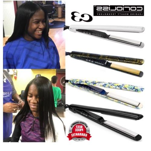 c3 flat iron straightener hair styling iron