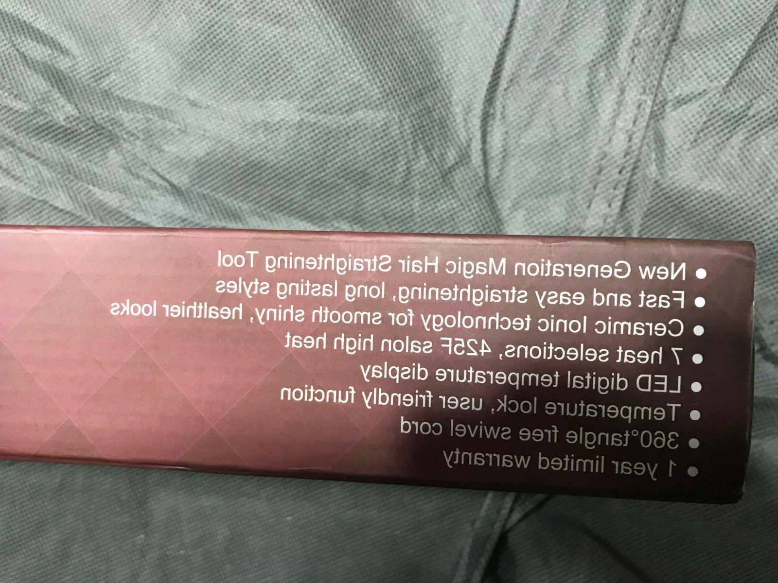 BERTA Ceramic Hair Brush Comb Clamp Negative ions Brush