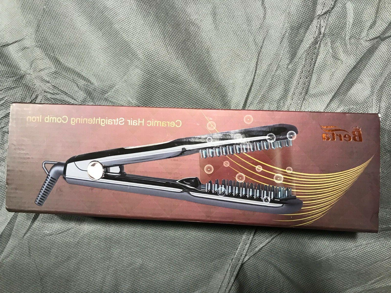 ceramic hair straightener brush comb clamp negative