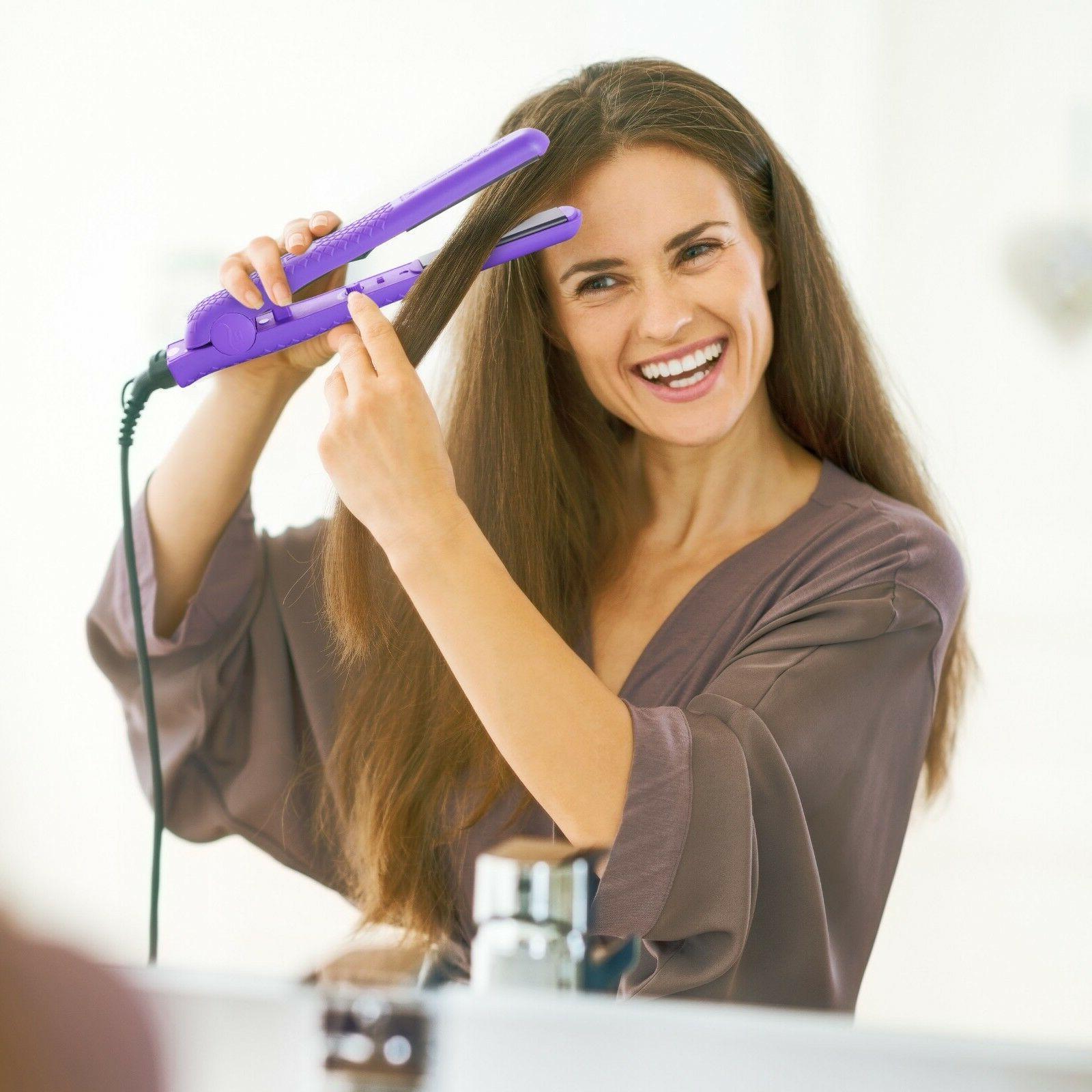 "Flat Hair 1.25"" Purple"