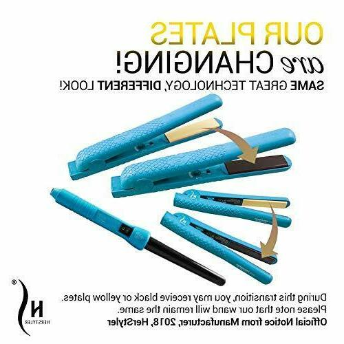 Herstyler Complete And Curling Iron Dual Voltage, Blue