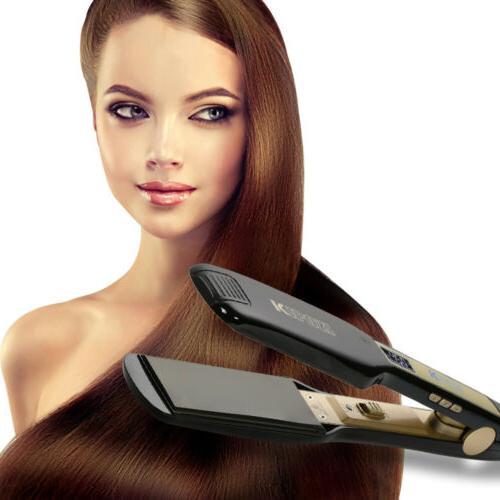Professional Titanium Hair Straightener Wide Plate Flat Iron
