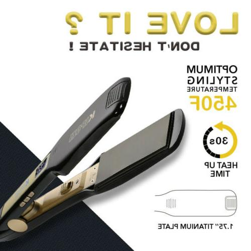 flat iron suitable for thick curly wavy