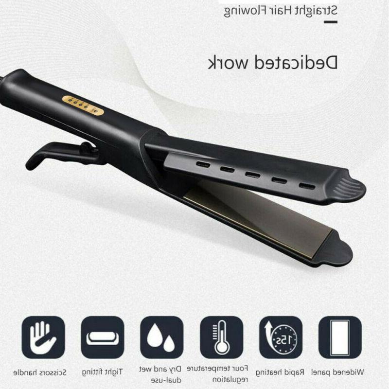 Steam Ceramic Ionic Flat Hair Straightener Professional