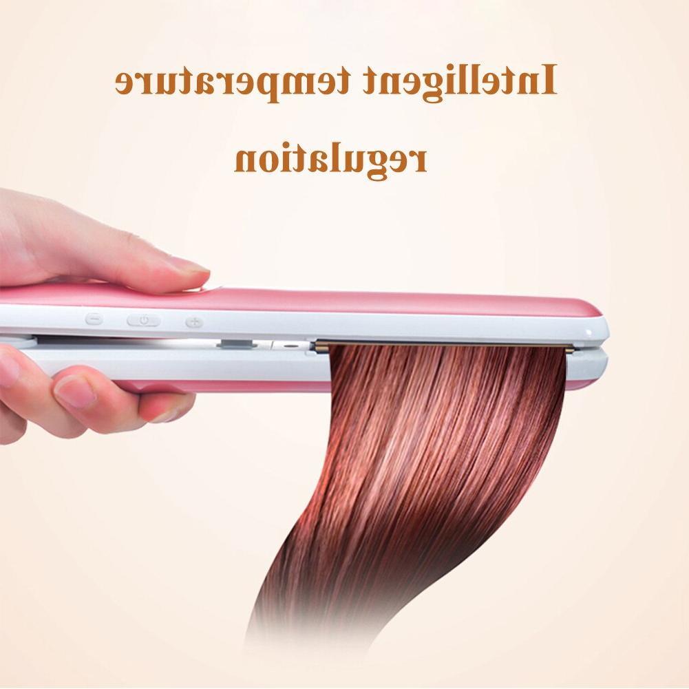Free LCD 2-in-1 straightener Negative <font><b>Iron</b></font>