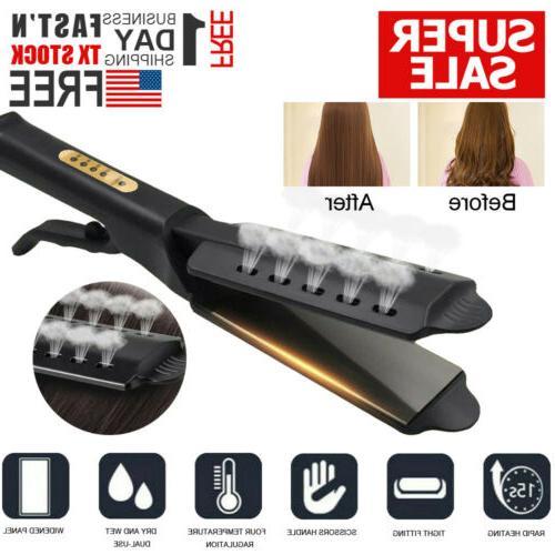 hair straightener ceramic tourmaline ionic flat iron