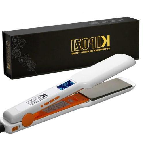 """Hair Straightener Curling Iron PTC Nano Titanium 6 1/1.75"""""""
