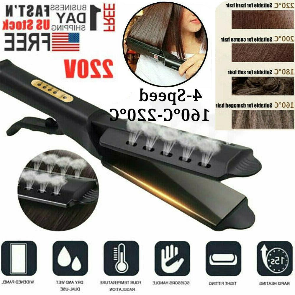 hair straightener glider flat iron hot four