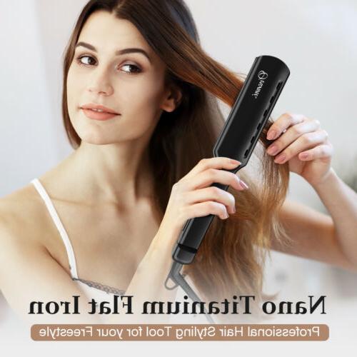 Nano Titanium Flat Iron Hair Straightener All Hair Type Adju