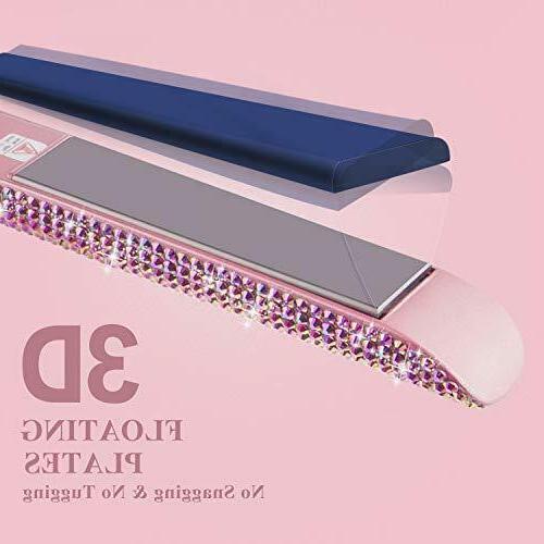 DORISILK Hair Straightener Titanium Flat Iron High Heat Dual Voltage