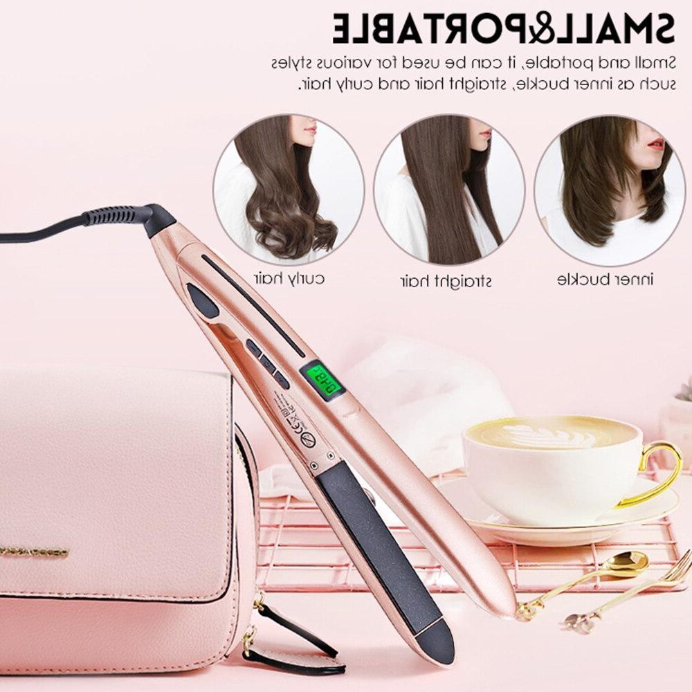 Hair Straightener with Digital Display Adjustable Temperatur