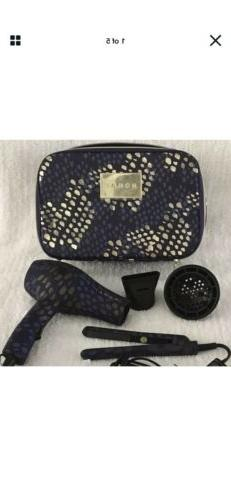 MONAT Hair Stylin On The Go Set Blow Dryer Flat Iron Travel