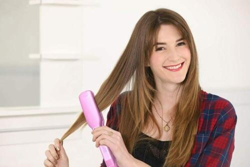 KIPOZI Hair Flat Iron Inch LCD Digital Display Pink