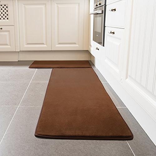 Kitchen Rug Set, LEEVAN Memory Foam Kitchen Comfort