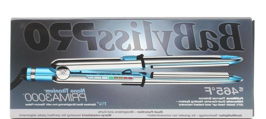 "BaByliss Pro Nano Titanium Prima3000 1.25"" Straightening I"