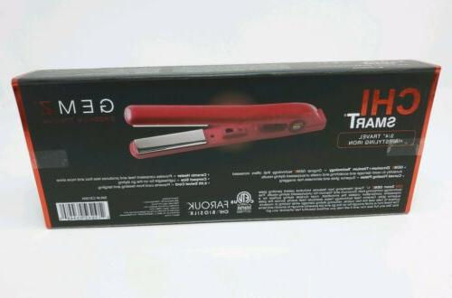 NEW CHI Smart Zirconium Titanium Flat Iron GARNET