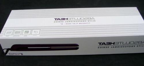 "NIB HEAT TITANIUM DIGITAL FLAT IRON 1"" AH-EFT10PRMR NEW"
