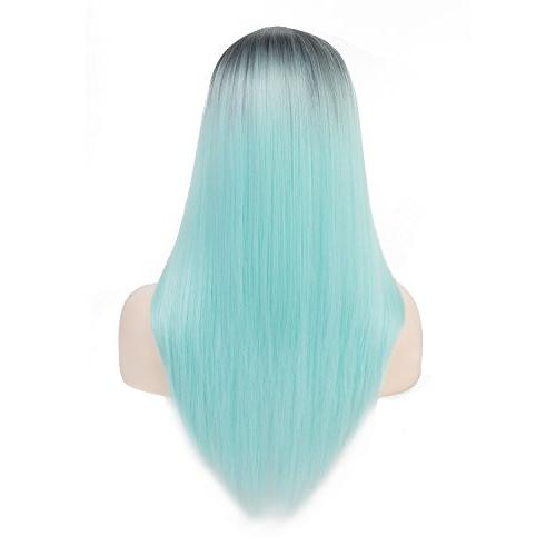ombre mint green wigs black