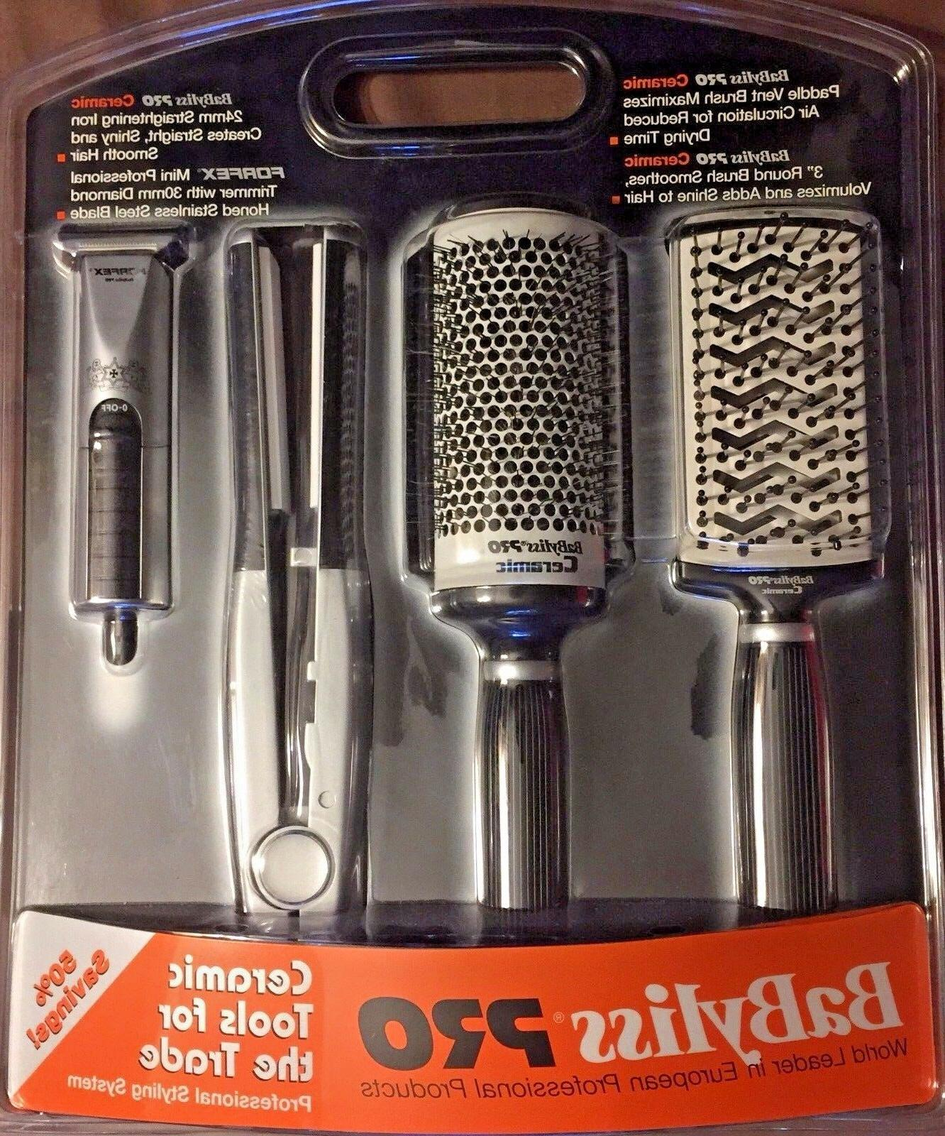 """BABYLISS PRO BAPP4, 1""""CERAMIC FLAT IRON 450 F ,FORFEX TRIMME"""