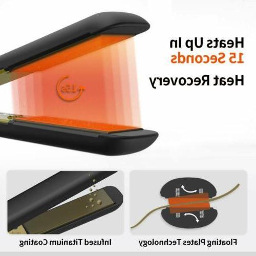 KIPOZI Pro Nano-Titanium Straighteners flat Iron Display