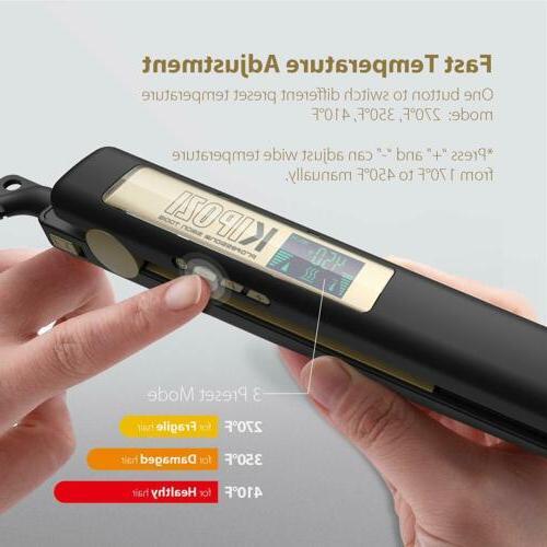 KIPOZI Titanium Flat LCD Display Adjustable Temperature