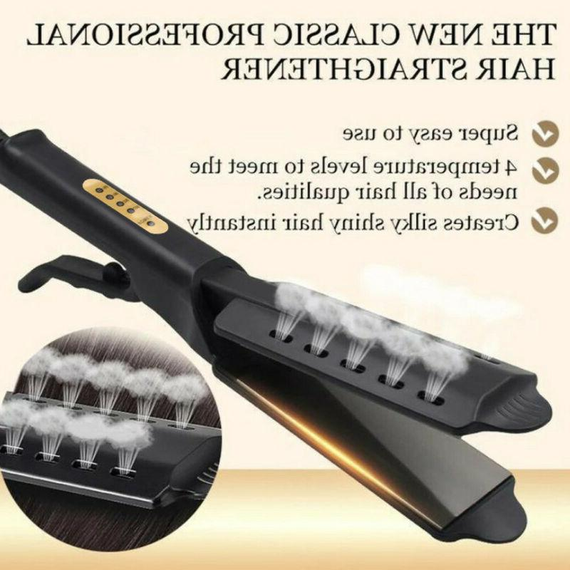 steam ceramic tourmaline ionic flat iron hair