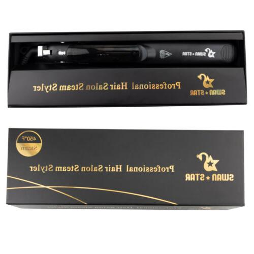 Professional Steam Styler Hair Straightener Argan Oil Vapor