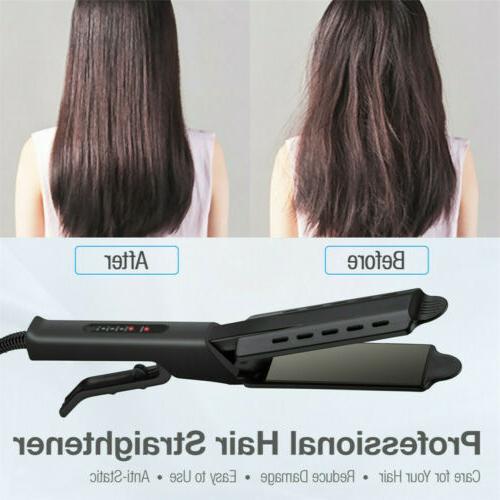 Professional Hair Straightener Ionic Flat Iron Tool Dry &Wet