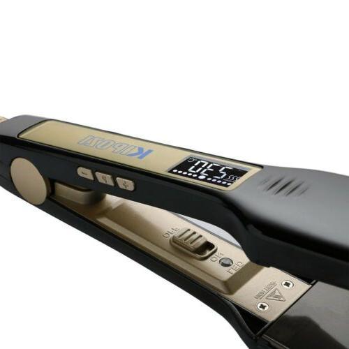KIPOZI Professional Titanium Straightener 1.75 Plates Flat Iron