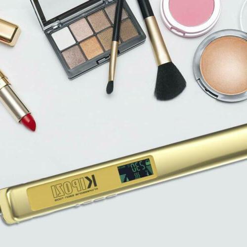 KIPOZI Pro Ion Flat Iron 1 Inch Gold