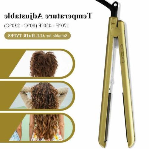 KIPOZI Salon Straightener Pro Titanium Flat Inch Gold